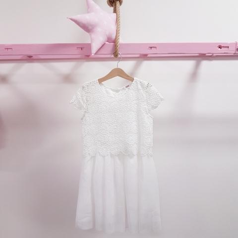 a13bbd34bc98 Krajkované biele dievčenské šaty – Mambolino