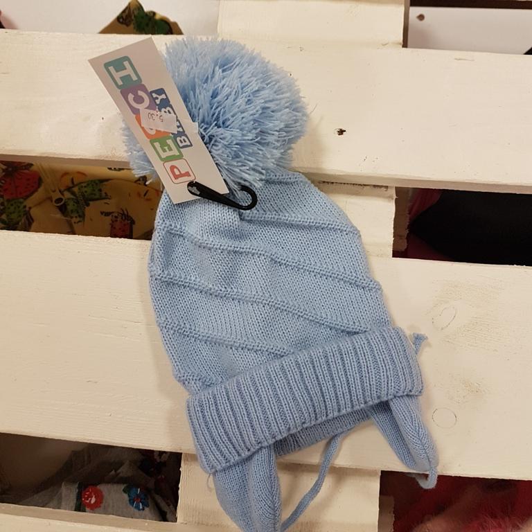 2599323cb Home>Dojčenské oblečenie>Čiapky, podbradníky, rukavice>Čiapka modrá s uškami