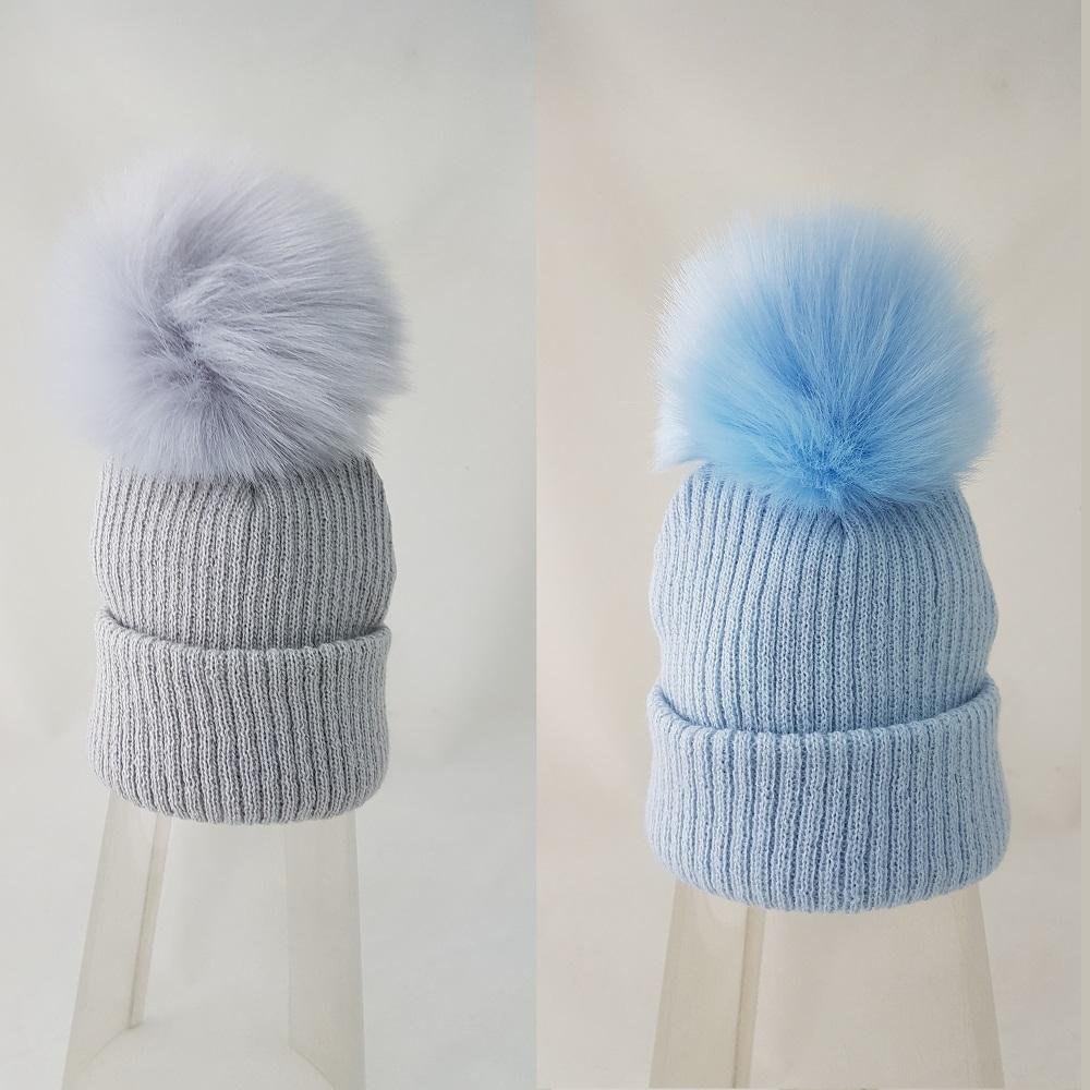 21f1b1197 Zimná čiapka s jemným brmbolcom sivá – Mambolino